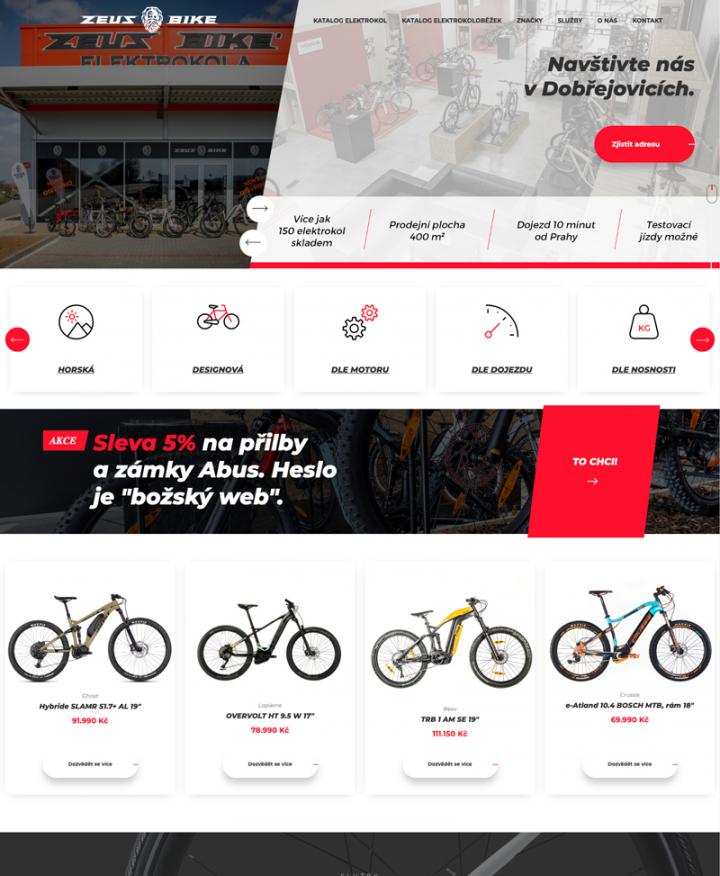 Zeus Bike - Webové stránky